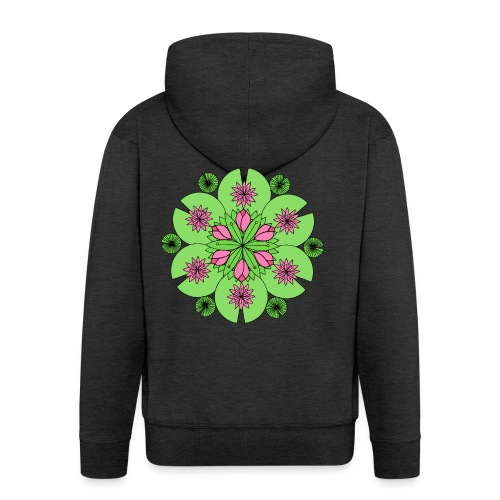 Pond Lotus Mandala - Men's Premium Hooded Jacket