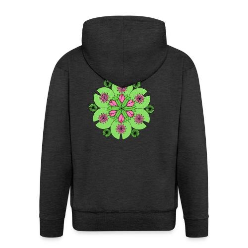 Pond Lotus Mandala - Men's Premium Hooded Jacket