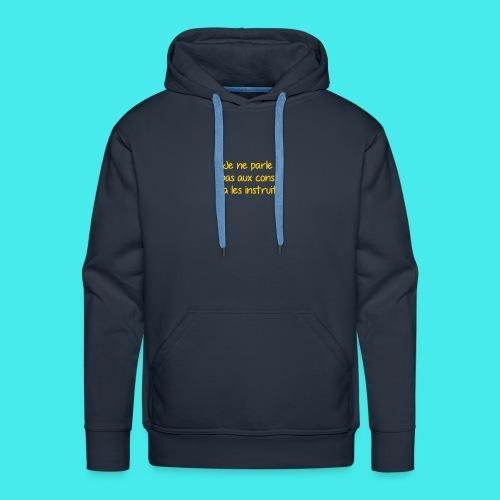 citation audiard - Sweat-shirt à capuche Premium pour hommes