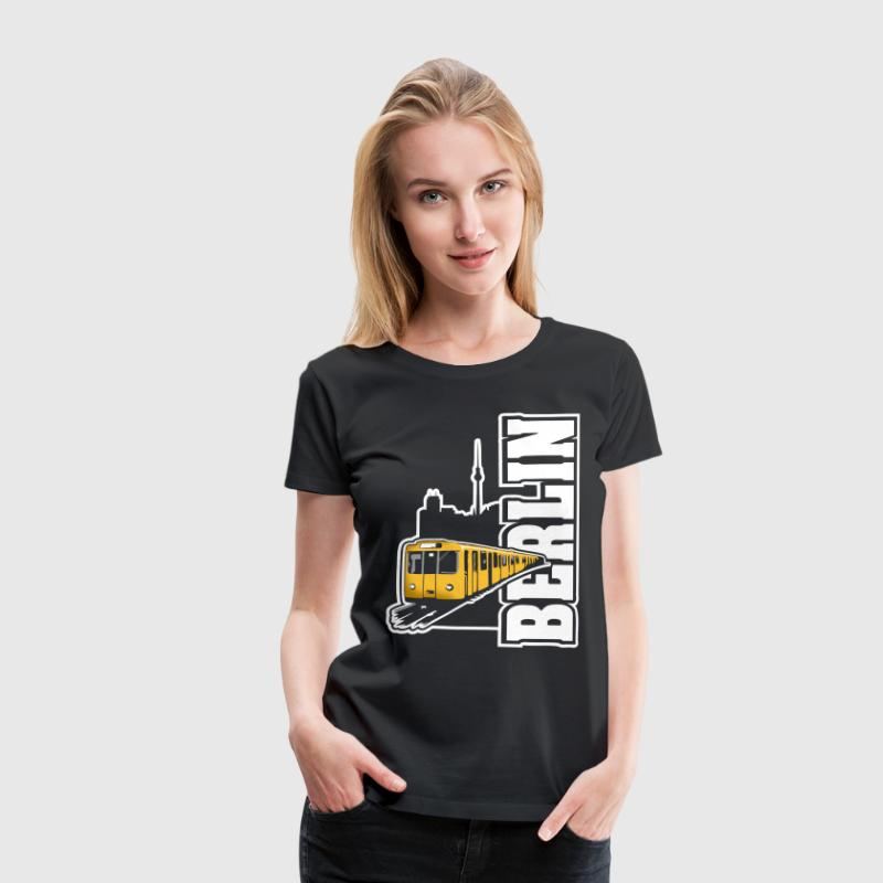 Berlin U-Bahn Color T-Shirts - Frauen Premium T-Shirt