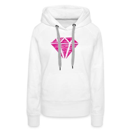 Diamante - Sudadera con capucha premium para mujer