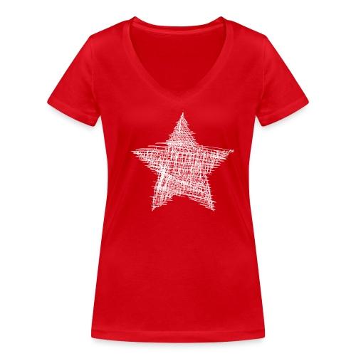 Esrtella - Camiseta ecológica mujer con cuello de pico de Stanley & Stella