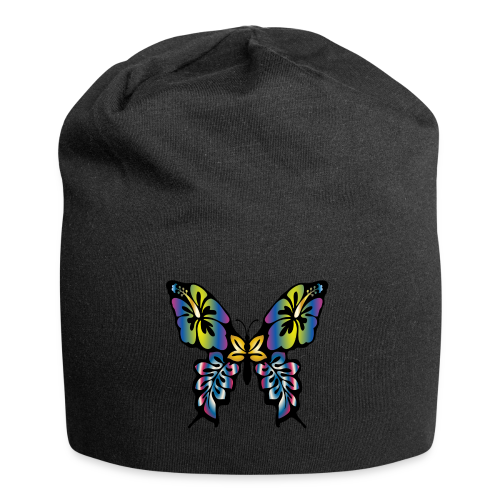 Multi-Coloured Butterfly  - Jersey Beanie
