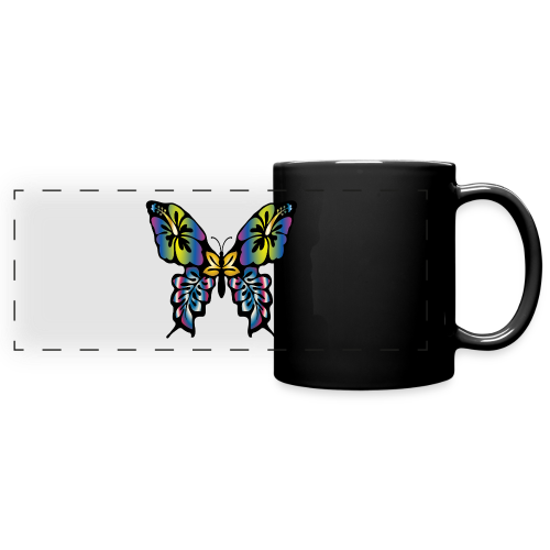 Multi-Coloured Butterfly  - Full Color Panoramic Mug