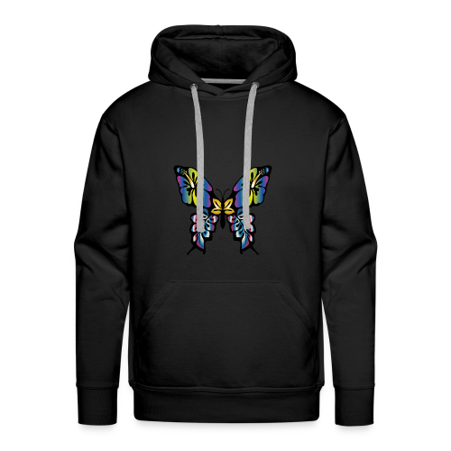 Multi-Coloured Butterfly  - Men's Premium Hoodie