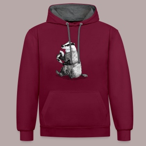 Badger Shaver - Contrast Colour Hoodie