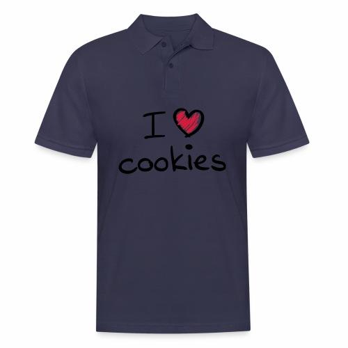 I Love Cookies - Männer Poloshirt
