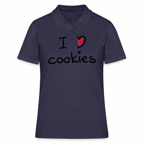 I Love Cookies - Frauen Polo Shirt