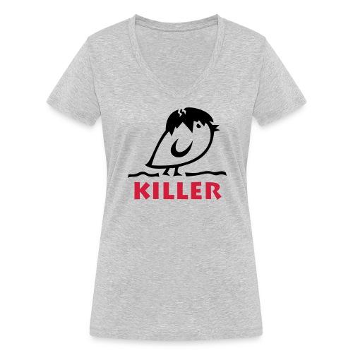 TWEETLERCOOLS - KILLER KÜKEN - Frauen Bio-T-Shirt mit V-Ausschnitt von Stanley & Stella