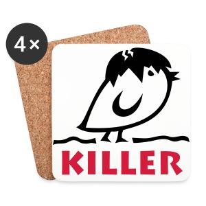TWEETLERCOOLS - KILLER KÜKEN - Untersetzer (4er-Set)