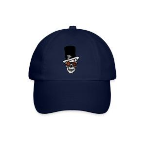 tete de mort chapeau flamme crane