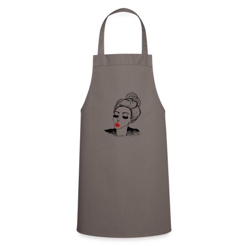Kissing vintage girl retro look - Cooking Apron