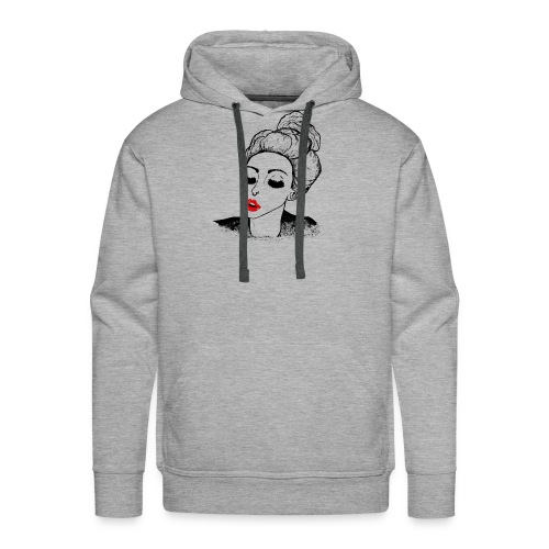Kissing vintage girl retro look - Men's Premium Hoodie