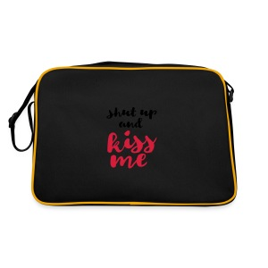 Shut up and kiss me love message - Retro Bag