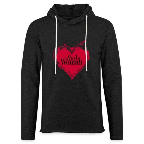 Nasty Woman ART Heart - Leichtes Kapuzensweatshirt Unisex