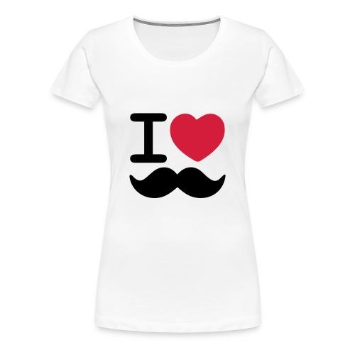 I Love Moustaches - Movember - Women's Premium T-Shirt