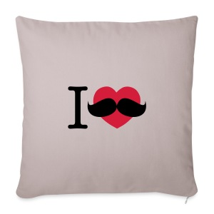 I Love Moustaches - Movember - Sofa pillow cover 44 x 44 cm
