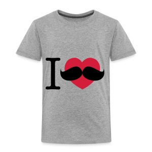 I Love Moustaches - Movember - Kids' Premium T-Shirt