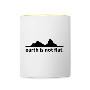 Mütze earth is not flat - Tasse zweifarbig