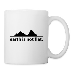 Mütze earth is not flat - Tasse