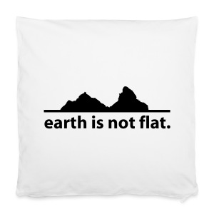 Mütze earth is not flat - Kissenbezug 40 x 40 cm