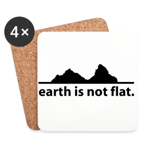 Mütze earth is not flat - Untersetzer (4er-Set)