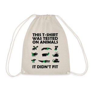 T-Shirt tested on Animals | Tierisches Motiv - Turnbeutel
