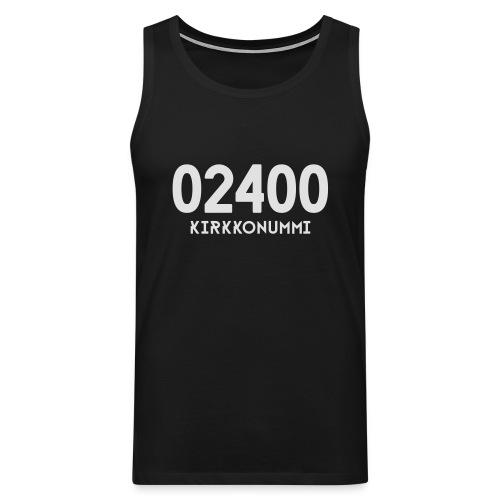 02400 KIRKKONUMMI - Miesten premium hihaton paita
