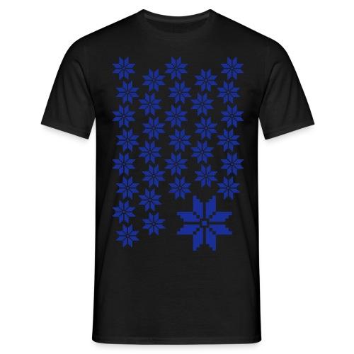 33 Schneeflocken Norweger Muster - Männer T-Shirt