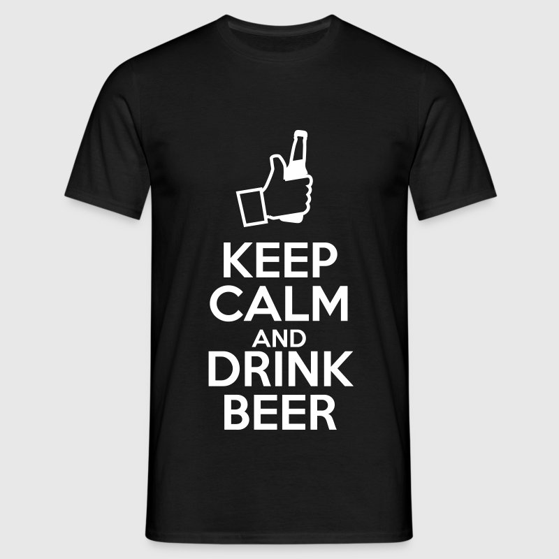 Keep calm and drink beer - T-skjorte for menn