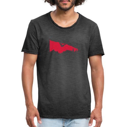 Boulderer im Überhang - Männer Vintage T-Shirt