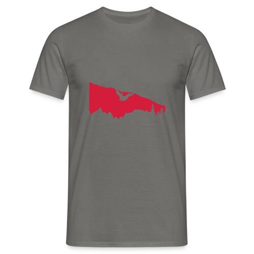 Boulderer im Überhang - Männer T-Shirt
