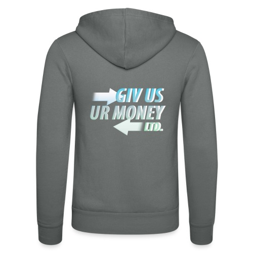 GivUsUrMoney Ltd. Official Shirt - Mens - Unisex Hooded Jacket by Bella + Canvas