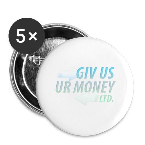 GivUsUrMoney Ltd. Official Shirt - Mens - Buttons large 2.2''/56 mm(5-pack)