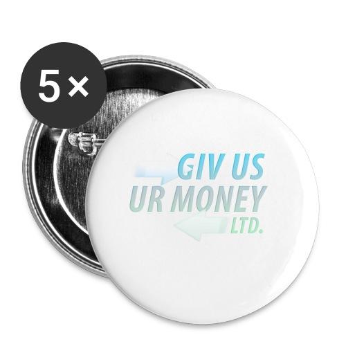 GivUsUrMoney Ltd. Official Shirt - Mens - Buttons small 1''/25 mm (5-pack)