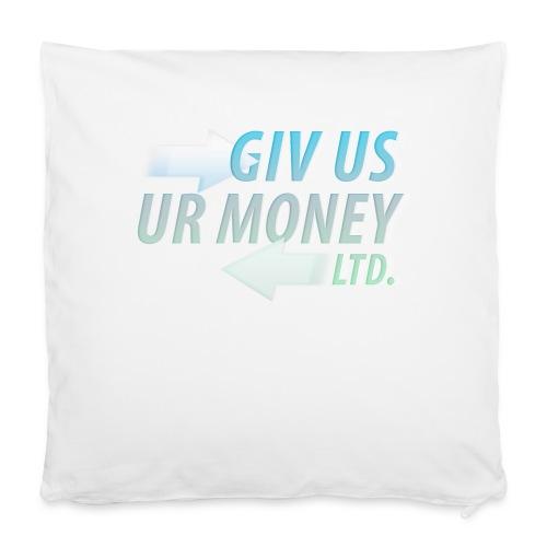 """GivUsUrMoney Ltd. Official Shirt - Mens - Pillowcase 16"""" x 16"""" (40 x 40 cm)"""