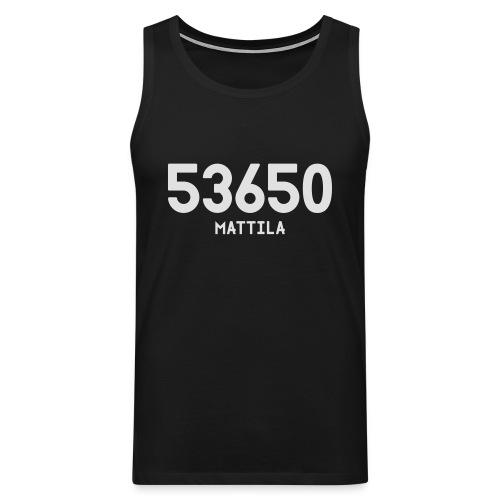 53650 MATTILA - Miesten premium hihaton paita