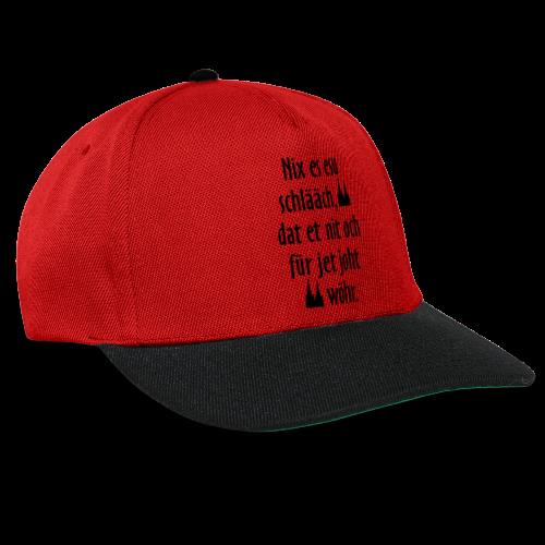 Nix es esu schlääch (Weiß) Kölner Spruch - Kölsche Sprüche - Snapback Cap