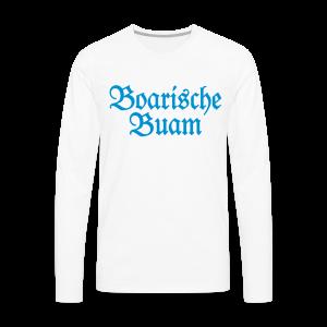 Boarische Buam Bayern S-5XL T-Shirt - Männer Premium Langarmshirt