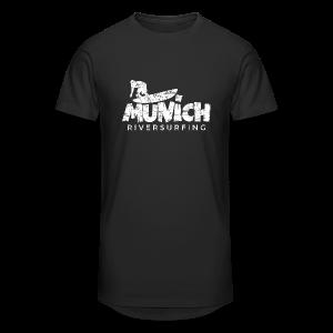 Munich Riversurfing (Vintage/Weiß) T-Shirt - Männer Urban Longshirt