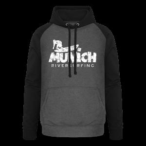 Munich Riversurfing (Vintage/Weiß) T-Shirt - Unisex Baseball Hoodie