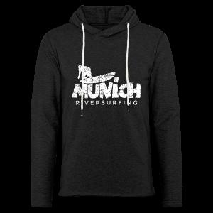 Munich Riversurfing (Vintage/Weiß) T-Shirt - Leichtes Kapuzensweatshirt Unisex