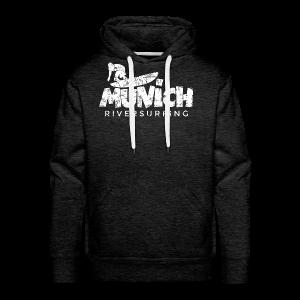Munich Riversurfing (Vintage/Weiß) T-Shirt - Männer Premium Hoodie
