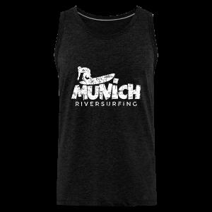 Munich Riversurfing (Vintage/Weiß) T-Shirt - Männer Premium Tank Top