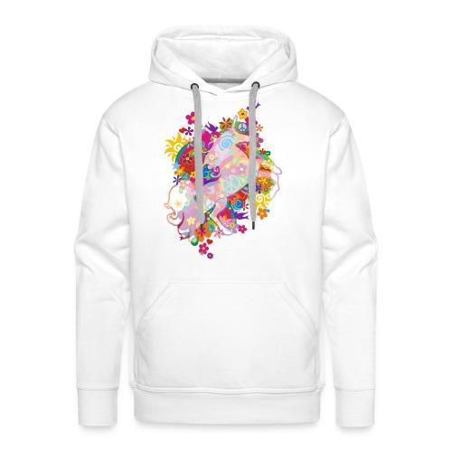 Flower Power Regenbogen Einhorn - Männer Premium Hoodie