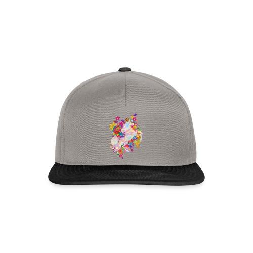 Flower Power Regenbogen Einhorn - Snapback Cap