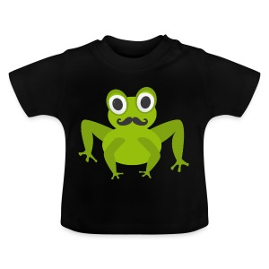 Frosch mit Bart - Moustache Frog - Baby T-Shirt