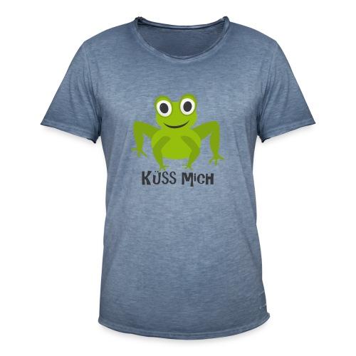 Frosch küss mich | Tierisches Motiv - Männer Vintage T-Shirt