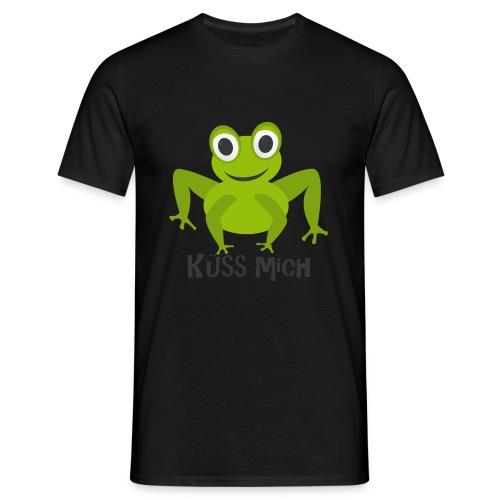 Frosch küss mich | Tierisches Motiv - Männer T-Shirt
