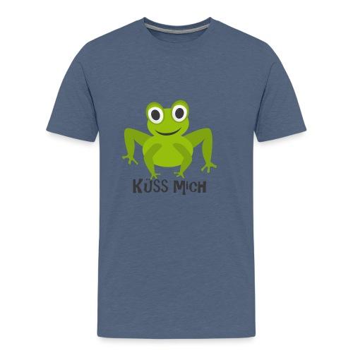 Frosch küss mich | Tierisches Motiv - Männer Premium T-Shirt